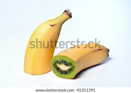 a banana and kiwi hybrid