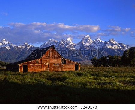 A barn in Grand Teton National Park, Wyoming.