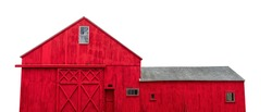 A barn isolated on white background. It is an agricultural building usually on farms and used for various purposes.