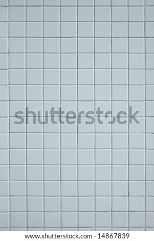 A base of white square tiles
