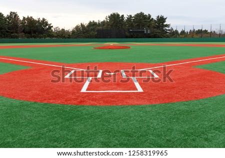 A baseball field landscape