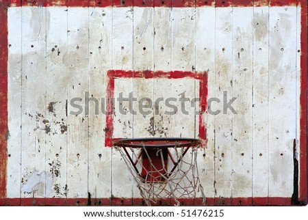 A basketball hoop and back board texture