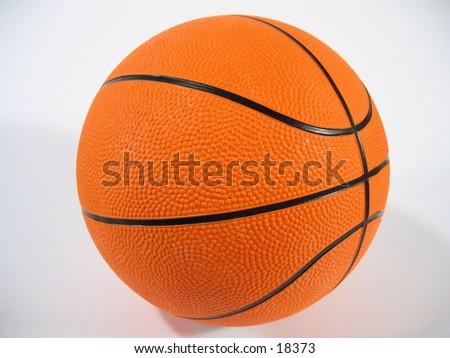 A basketball on white background.