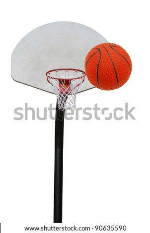 A basketball sport isolated white