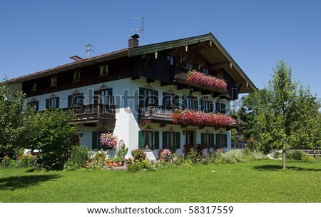 A Bavarian country house in Germany