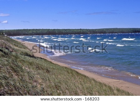 A beach along Lake Superior.