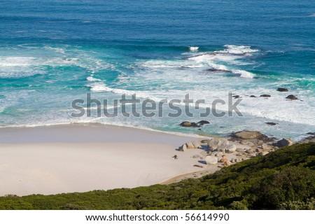 A beach along the coast of South Africa