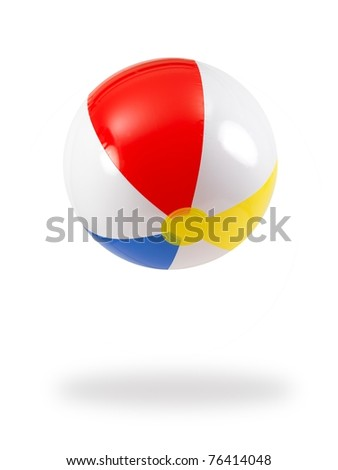 A beach ball isolated against a white background