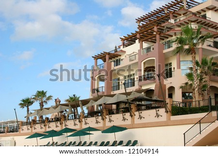 A beach-front condominium resort in Cabo San Lucas, Mexico.