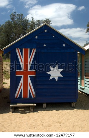 A Beach Hut on Brighton Beach, Melbourne, Victoria, Australia