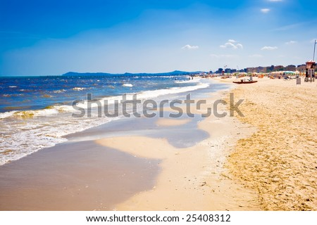 A beach in Adriatic sea, Rimini, Italy