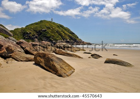 A beach in honey island (ilha do mel), brasil