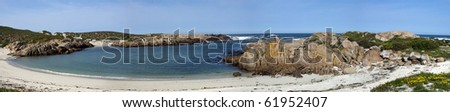 A beach near Cape Columbine on the west coast of South Africa in the Western Cape Province, near Paternoster