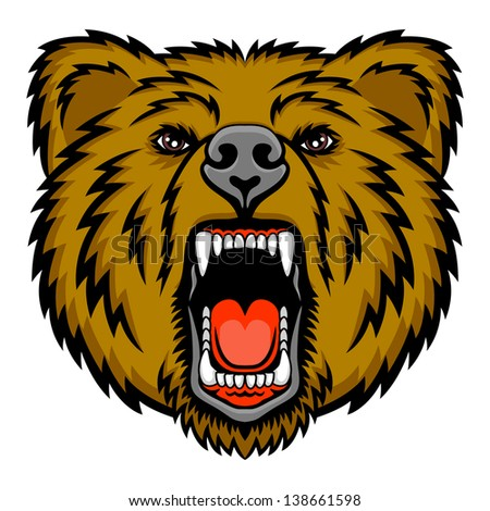 A Bear head logo. This is illustration ideal for a mascot and tattoo or T-shirt graphic. Raster version, vector file also included in the portfolio.