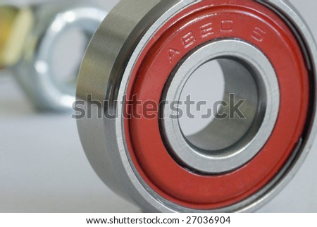 a bearing from a skateboard wheel rated at ABEC 5 (Annular Bearing Engineering Committee)