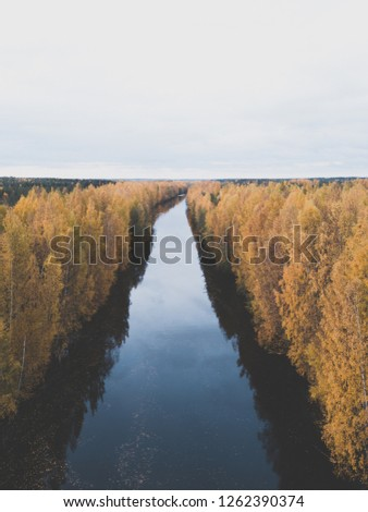 A beautiful Aerial images of nice Autumn Colors of Finland!