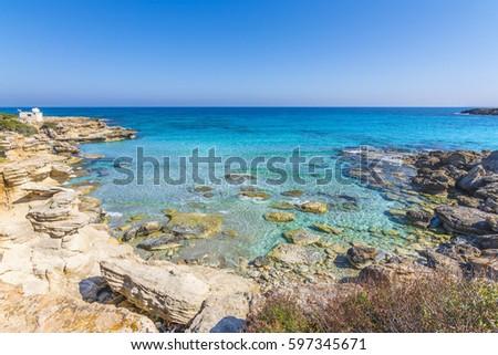 A beautiful beach in Karpaz region, Cyprus #597345671