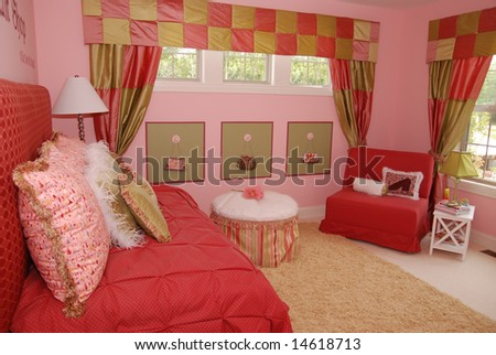 Beautiful Bedroom Interior For A Child Stock Photo 1461