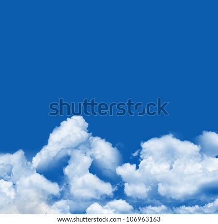 A Beautiful Blue Sky Template With Some Space For Text Message