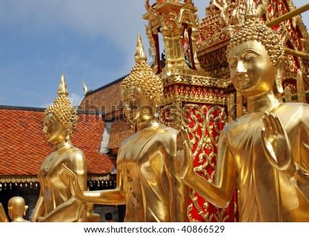 A beautiful buddha statues seen in Wat Phrathat Doi Suthep i Chiang Mai