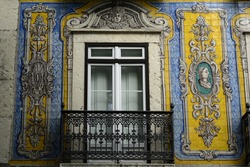 A beautiful building facade in Lisbon, Portugal