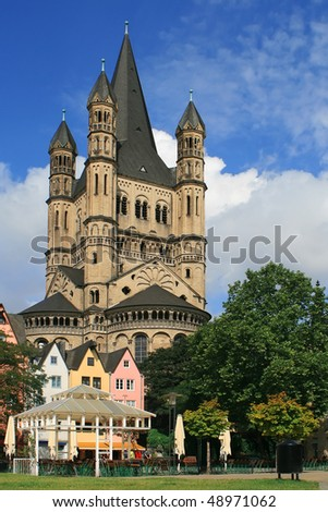 A beautiful castle in the center of Frankfurt, Germany
