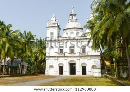 A beautiful Church in Goa, India. Goa is a popular tourist destination in India