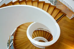 A Beautiful Circular Staircase in House