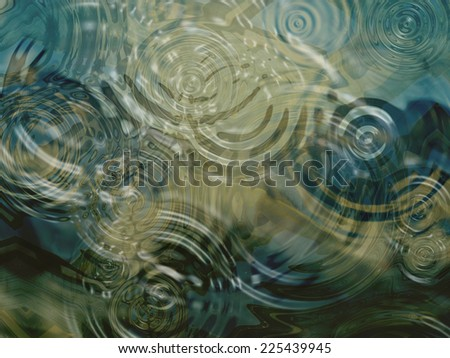 A beautiful close up of ripples on a pond.