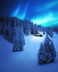 A beautiful cold shiny night