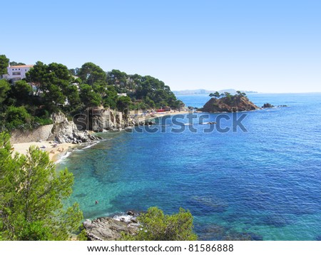 A beautiful corner in Costa Brava.Costa Brava boasts with amazing golden beaches, rocky gorges, unspoiled nooks, sheltered coves, and some of the most attractive scenery in the Mediterranean