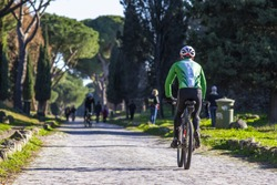 a beautiful day of leisure and sport along appia antica in rome