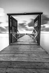 A beautiful dock in the morning