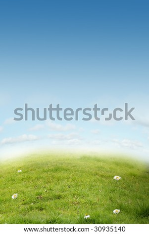 A beautiful ecology landscape  for background or cards