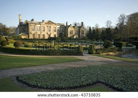 A beautiful English manor house in the winter sun