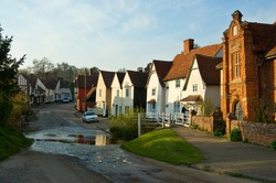 A beautiful English village in the evening