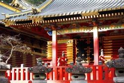 A beautiful exterior of Toshogu shrine building