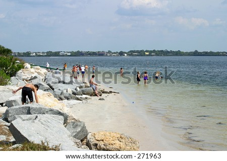 A beautiful florida beach with