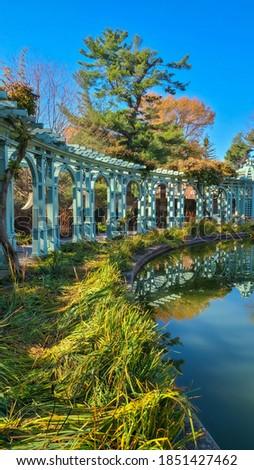 A beautiful garden in Old Westbury, Long Island, NY Stock fotó ©