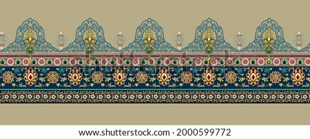 A beautiful geometric style border design Illustration handmade artwork. background hand drawing. Perfectly for wrapping paper, wallpaper, fabric prin