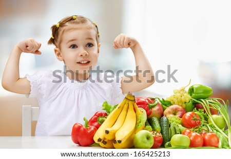 A beautiful girl eating fresh fruit
