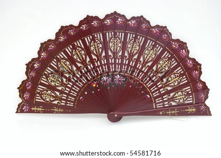 A beautiful hand-painted fan from Spain