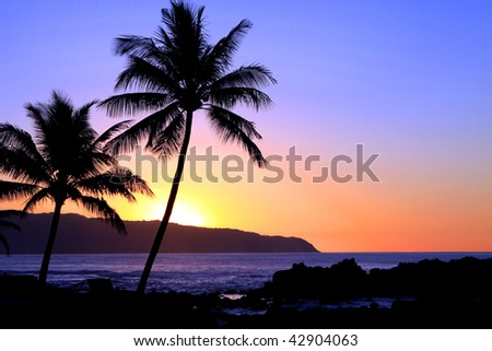a beautiful Hawaiian sunset