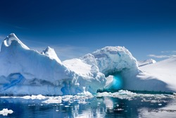 A beautiful Iceberg  in Pleneau Bay, Port Charcot, Antarctica