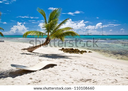 A beautiful image of caribbean paradise - Nature - stock photo