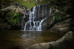 A beautiful image of Cascade Falls at Patapsco State Park Avalon area.