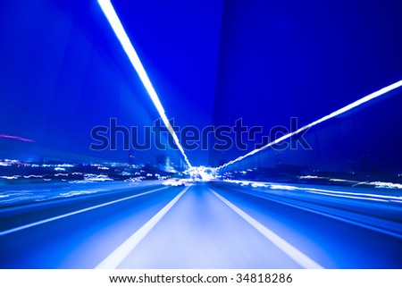 A beautiful image of Japanese highway - stock photo
