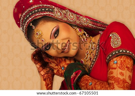 A beautiful Indian bride.