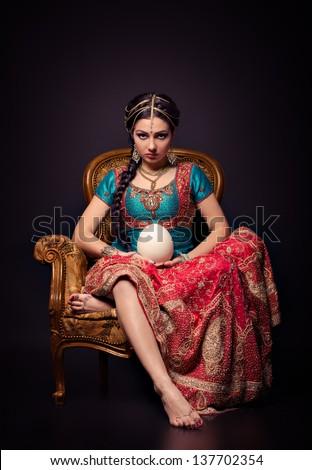 a beautiful indian princess in...