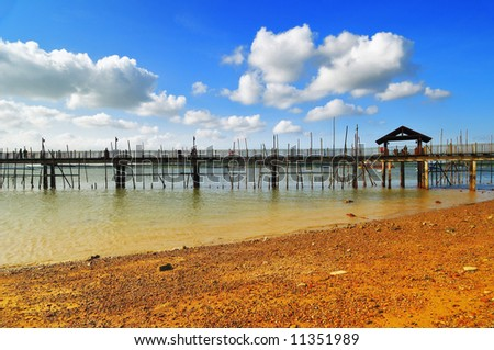 a beautiful landscape with a water fisherman village